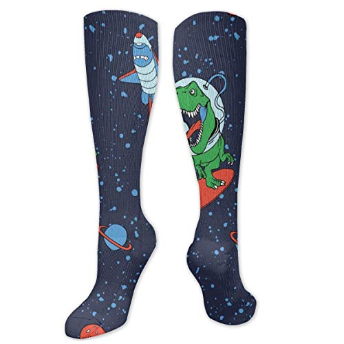 Regalo de Navidad calcetín Astronauta dinosaurio vector impresión patrón tamaño 50cm