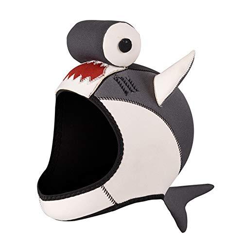 Capucha de neopreno para buceo, capucha con babero ventilada de 3 mm para hombres y mujeres, gorra para deportes acuáticos, cálida y cómoda, sin cordones, para esnórquel, surf, buceo, kayak, natació