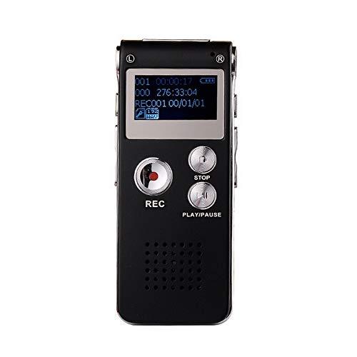 HHY digitaal dicteerapparaat, 8 GB, voicerecorder, oplaadbare MP3-speler, opname AB-opname voor het lezen van een vergadering Memo