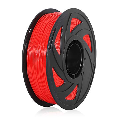 TPU 3D Printer Filament Flexible Filament 1.75mm 1kg 2.2lb Spool, Dimensional Accuracy +/- 0.05 mm, Fit Most FDM Printers Pack of 1 (Red)