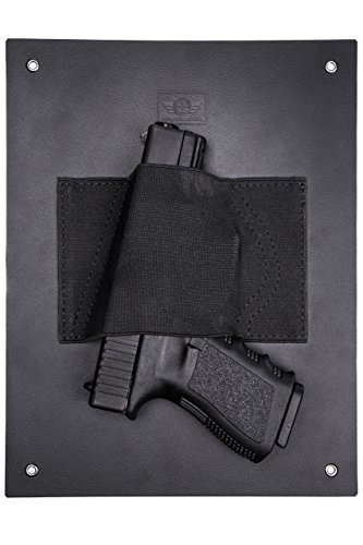 CCW Tactical Under Desk Holster Gun Holder - Safely Mount a Handgun Almost Anywhere - Holds Nearly Any Size Pistol or Revolver, Taser, Magazine, Flashlight, Ammo or Knife for Fast Draw