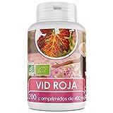 Vid Roja Hojas Orgánica - 400 mg - 200 comprimidos
