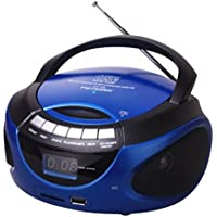 Metronic 477129 - Radio CD / MP3 portátil con Bluetooth, azul