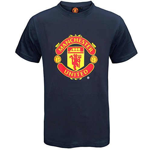 Desolate Manchester United Football Club Official Soccer Gift Mens Crest T-Shirt
