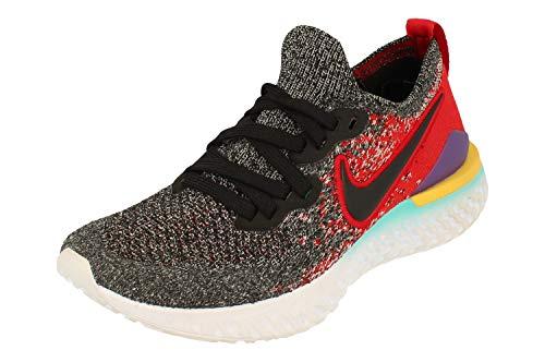 Nike Epic React Flyknit 2 GS Running Trainers AQ3243 Sneakers Zapatos (UK 5.5 us 6Y EU 38.5, Black Hyper Jade 007)