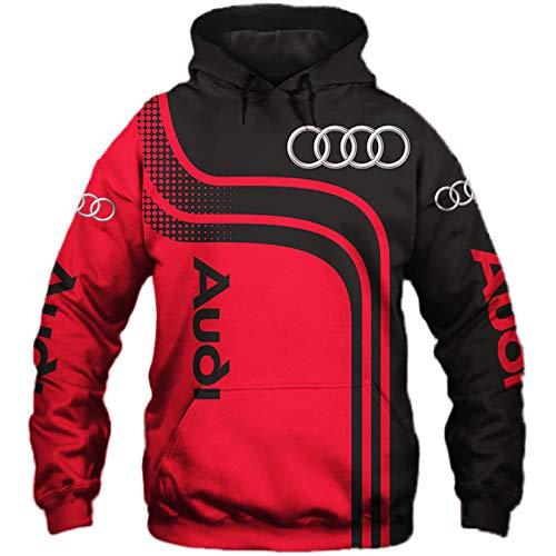 SPORTYAN Herren Hooded Jacke,Hoodie,T-Shirt A-U-D-I Voll 3D Drucken Leicht Sweatshirt Unisex Beiläufig Sportkleidung Mantel/B/M