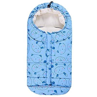 Bebé Saco de Dormir 3 Tog, Mantas Envolventes Invierno para Cochecito 0-24 Meses