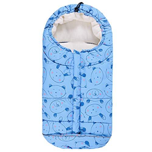 Baby Schlafsack 3 Tog, Kinderwagen Schlafsack Neugeborenen Fußsack 0-6 Monate, Blau