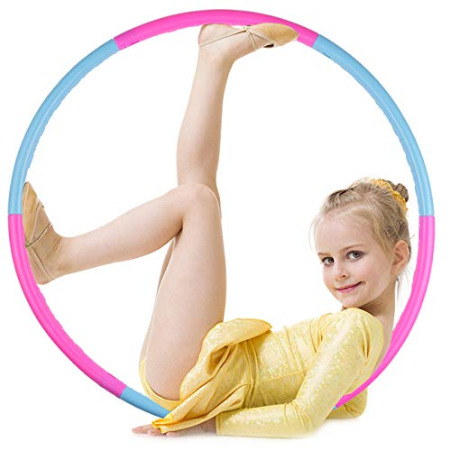 Cingfanlu Kids Hoola Hoop Detachable amp Size Adjustable Professional Weighted Colorful Hoola Hoop Rings for Kids Adult Toy Gifts Gymnastics Playing Lose Weight Boys and Girls