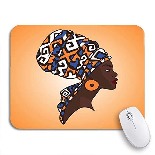 N\A Tappetino per Mouse da Gioco Zulu Ritratto di Bella Donna Africana in Turbante Tribal Antiscivolo Supporto in Gomma Mousepad per Notebook Tappetini per Mouse