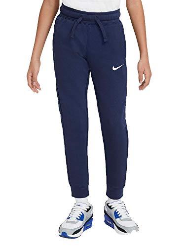 NIKE B NSW FLC Swoosh Pant Pantalones de compresin, Midnight Navy/(White), XL para Niños