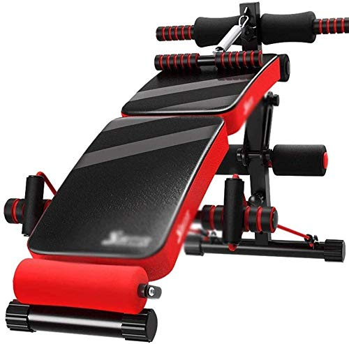 DAGCOT Sit-up Board - Regolabile Arc a Forma di declino Sit Up Bench Workout Crunch Consiglio Fitness Exercise (Color : Red)