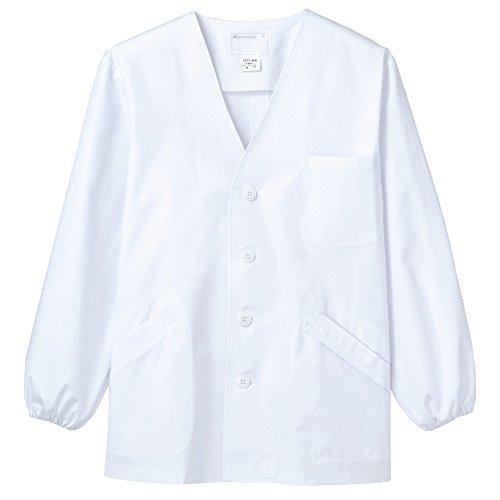 (モンブラン) Montblanc 調理衣 和食 白衣 長袖 衿なし 男性用 抗菌防臭加工 [O157対応] 1-611 M