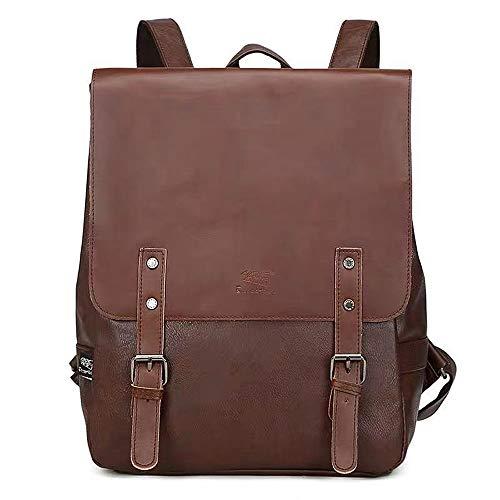 Retro PU Leder Vintage Rucksack Damen Wanderrucksack Damen Herren Schultertasche Schultasche Damen Rucksack für Camping Reise Geeignet