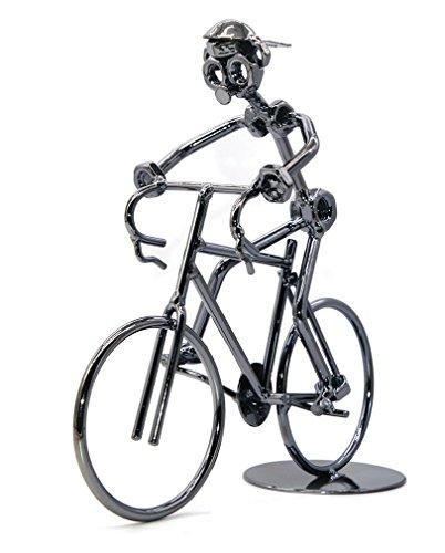 Cygoshop Escultura de metal retro clásico hecho a mano de hierro bicicleta única decoración de metal arte adornos para los amantes de la bicicleta motocicleta