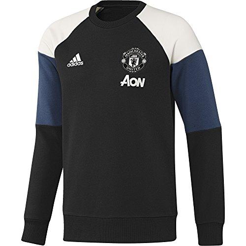 adidas Herren Manchester United FC Sweatshirt, Black/Collegiate Navy/Chalk White, S