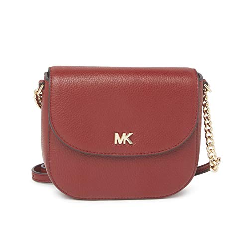 A striking silhouette is always a fabulous complement to your favorite looks with this crossbody! Made of soft pebbled leather. Lined interior Flap front magnetic snap closure Chain and leather adjustable crossbody strap 21-24.5 in drop Measurements:...
