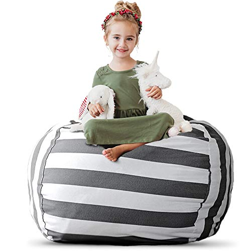 Stuffed Animal Storage Bean Bag Chair - Extra Large Stuff 'n Sit by Creative QT - Organization for Kids Toy Storage - Available in a Variety of Sizes and Colors (38