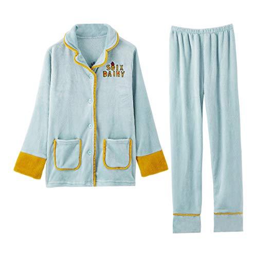 GOSO Pijama para niñas 8 a 14 años,Pijama Polar para niñas Botones para...