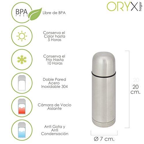 Oryx 5075000 Termo Liquidos Acero Inoxidable Antigoteo 350 Ml.