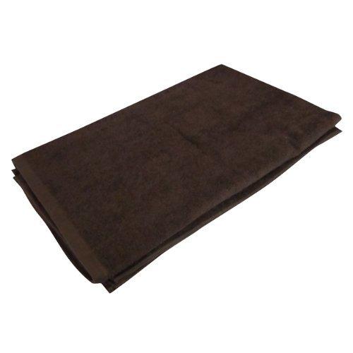 タオルシーツ 特大タオル 110x220cm ブラウン 無地 業務用タオル 業務用バスタオル 両面パイル地 大判タオル 茶色