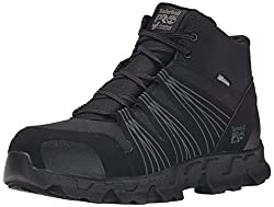 Timberland PRO Men's Powertrain Mid Alloy-Toe ESD Best Industrial Work Boot