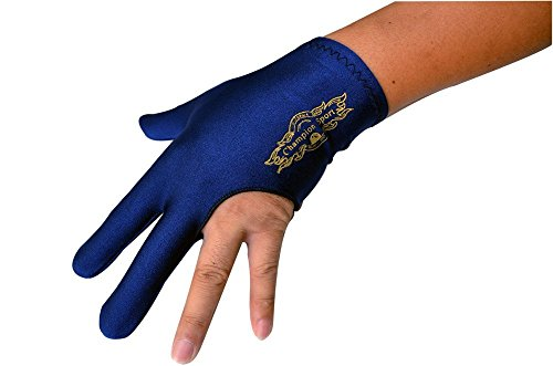 Champion Sport Dark Blue Left Hand Billiards Gloves for Pool Cues - Wear on The Left Hand, 1 Pool Glove
