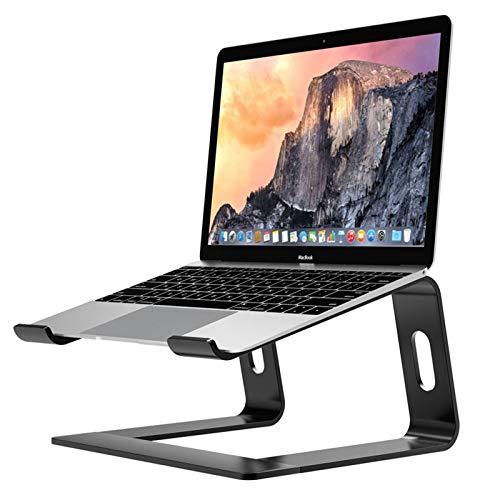 Soporte Laptop ergonómico de Aluminio,Soporte Ordenador,Bases de Portátiles,Laptop Stand ensamblable,Soporte de Portátil,Soporte para Portatil para Macbook,DELL,HP,Samsung,Lenovo de 10-17',Negro