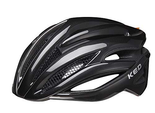 KED Rayzon M Black - 55-59 cm - inkl. RennMaxe Sicherheitsband - Fahrradhelm Skaterhelm MTB BMX Erwachsene Jugendliche