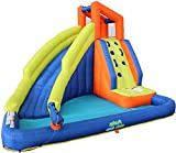 Corson Tools Splash and Slide Climb Inflatable Water Blob, Climbing Wall, and Pool Area | Outdoor Summer Fun for Kids & Families with Air Blower My First Waterslide