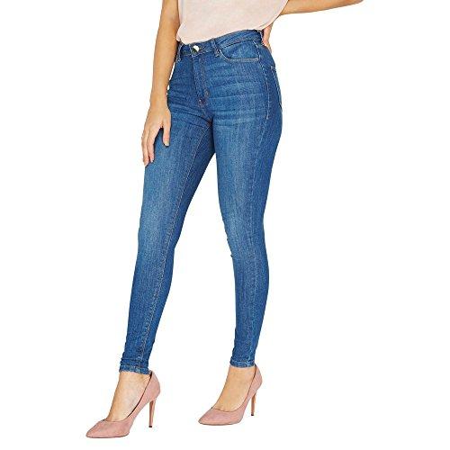 Dorothy Perkins Damen Skinny Jeans Mid Vintage Bailey, Blau (Blue 110), Gr. 34 (6 UK)