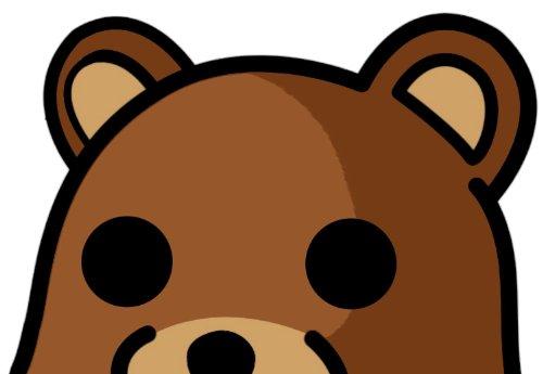 INDIGOS UG Aufkleber Autoaufkleber JDM Die Hart - Pedo Bear Bumper Sticker Peeking Bear Car Decal 127mmX101mm