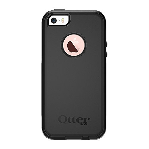 OtterBox COMMUTER SERIES Case for iPhone SE (1st gen - 2016) and iPhone 5/5s - Frustration Free Packaging - BLACK