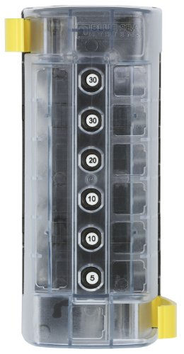 Blue Sea Systems ST CLB Circuit Breaker Block - 6 Position with Negative Bus