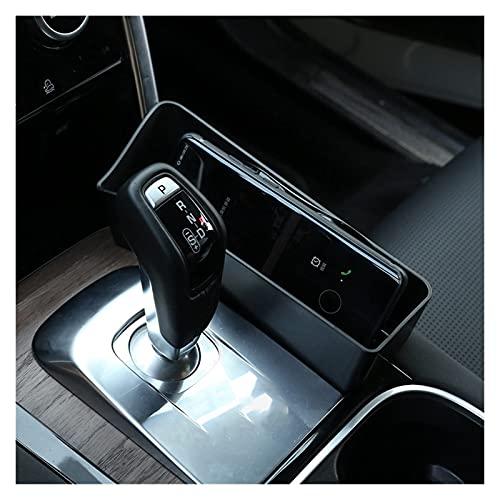 SHOUNAO Ajuste para Land Rover Discovery Sport 2019-2020 Caja De Almacenamiento del Lado De La Caja del Engranaje De La Consola Interna (Color Name : Black)