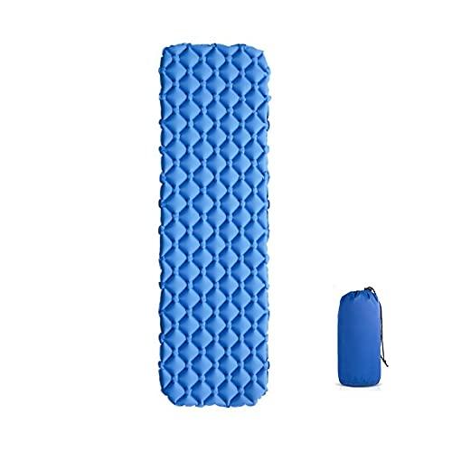 Esterilla Camping,Esterilla Hinchable Alemán inflable al aire libre Almohadilla para dormir Lightweight Impermeable Air Colchion Camping inflable portátil Camping Match ultraligera ( Color : Blue2 )