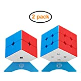XMD キューブパズル 競技用 立体パズル 公式·WCA国際大会規格 FAVNIC 脳トレ (ステッカーレス セット 2x2 3x3)