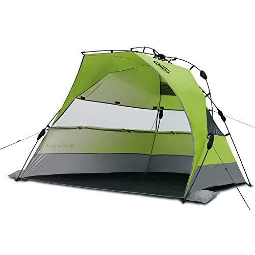 Strand-Zelt Qeedo Quick Bay Xl mit UV-Schutz (UV80 nach UV-Standard 801) Pop-UP-Strandmuschel - grün
