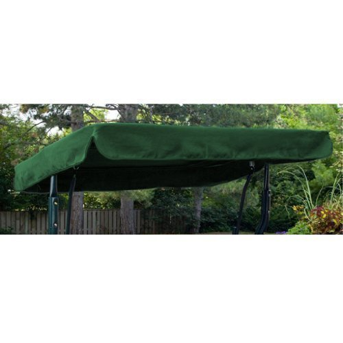 Gardenista Garden Swing Canopy Replacement | Water Resistant | Only For Outdoor Seat Hammock | Great for Sun Shade | 3 Seater (Only Canopy) (Green)