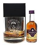Personalised Premium Tumbler & Miniature - Peaky Blinders Design (Courvoisier VSOP Fine Cognac Brandy, Cardboard Gift Box)