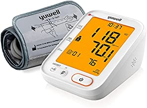 yuwell Blood Pressure Monitor, 360 Free Extra Large Upper Arm Cuff, Digital BP Machine with Large Backlit Screen, Pulse Rate Monitoring, Dual Users, Voice Broadcast, Power Adapter and Batteries
