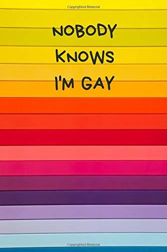 Nobody Knows I/'m Gay Hoodie Kapuzenpullover Fun Schwul homosexual Free Equal