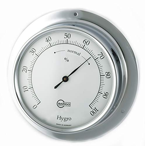 Barigo 783CR Tempo Hygrometer analog Chrom 110mm