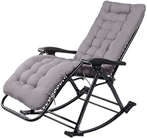 AWJ Garden Rocking Chair Folding Recliner Adjustable Sunbed Zero-gravity Seat For Outdoor Patio Deck Lawn For Relaxation Camping Chair