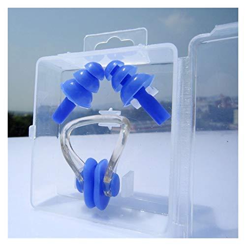 Taponpara los oídos Impermeables 3 unids Unisex Nariz Clip Plach Plachs Earplacks Impermeable Normera Clip Clip Soft Silicone Earplugs Set Surf Buceo Piscina Accesorios para protección auditiva