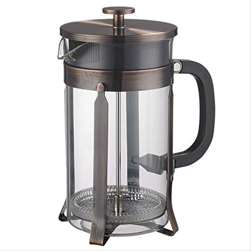 Nobrand roestvrij stalen strainer koffie pot french brew koffie maker theapot hoge borosilicaatglas 1000 ml