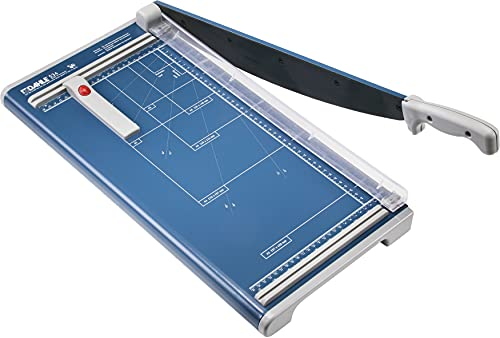 Dahle 534 Professional Guillotine Trimmer, 18' Cut Length, 15 Sheet Capacity, Self-Sharpening, Manual Clamp, German Engineered Cutter