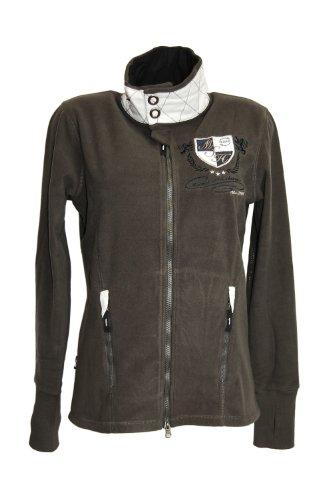 Malouk Montero Damen Fleece Jacke, Größe XL, grau