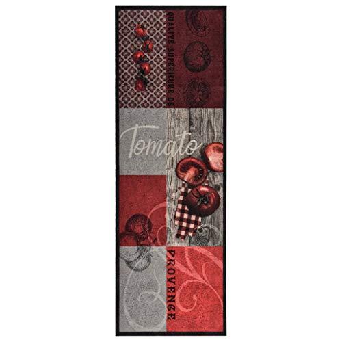 vidaXL Küche Bodenmatte Waschbar Tomate rutschfest Fußmatte Läufer Flurteppich Teppich Küchenläufer Teppichläufer Küchenteppich 60x180cm