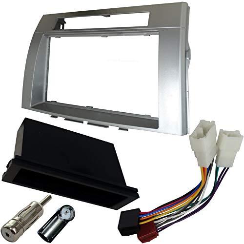 AERZETIX: Marco adaptador kit 2DIN cubierta plástica moldeado para el cambio de autoradio original con un radio estándar del coche vehículos automóvil